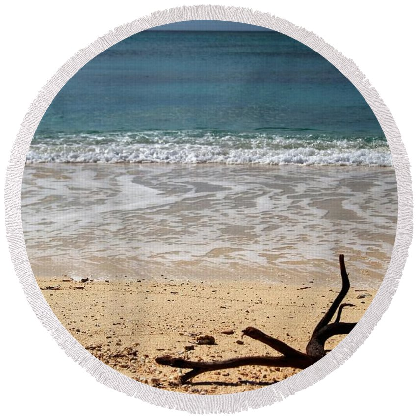 Beach At Grand Turk Round Beach Towel featuring the photograph Beach At Grand Turk by Robert Smith