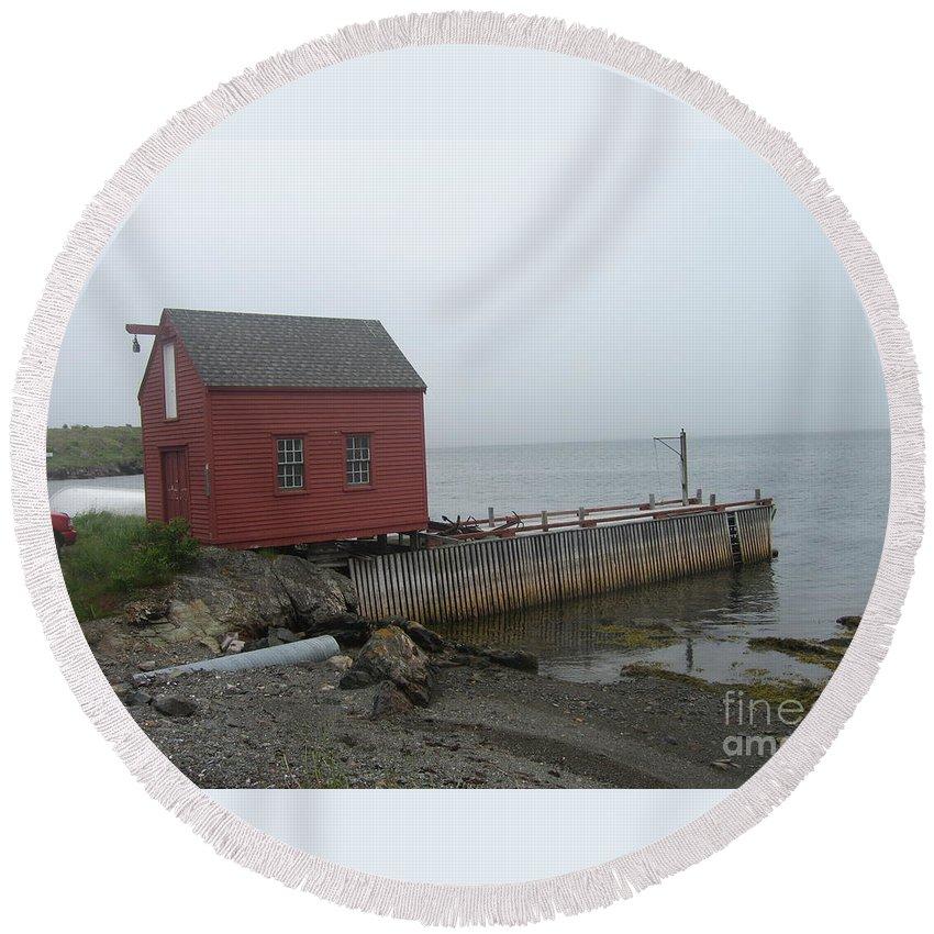 Photograph Bonavista Island Atlantic Ocean Newfoundland Round Beach Towel featuring the photograph Bonavista by Seon-Jeong Kim