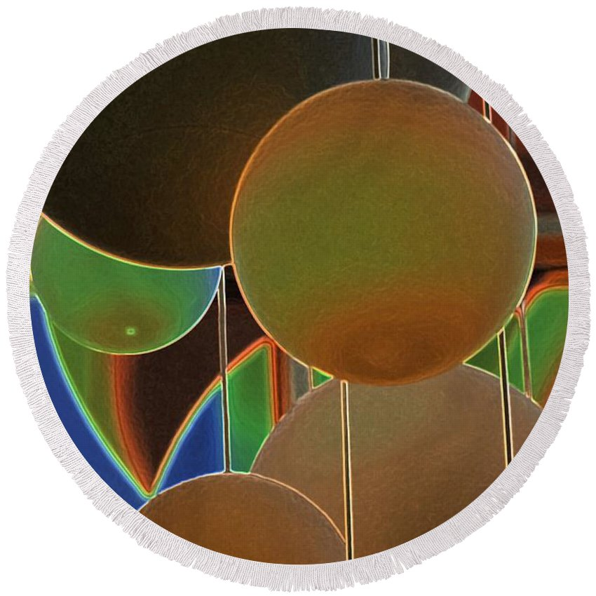 Colored Bubbles Round Beach Towel featuring the photograph Colored Bubbles by Robert Meanor