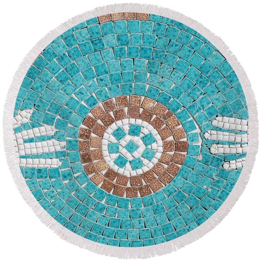 Mosaic Round Beach Towel featuring the photograph Hans Mosaic by Rob Hans