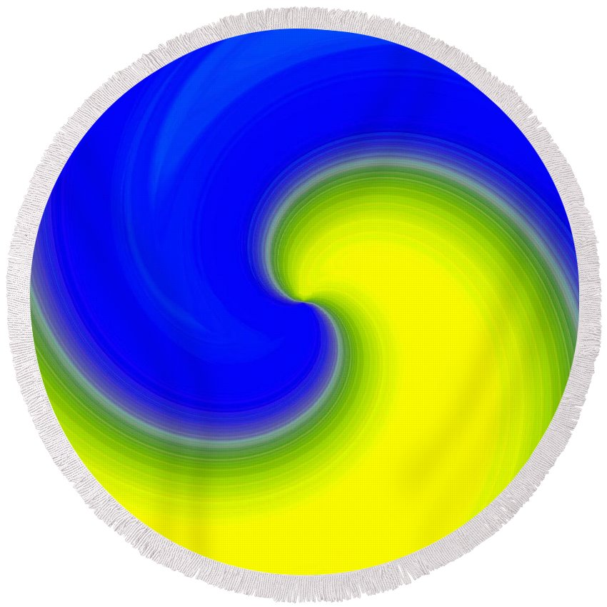 Abstract Round Beach Towel featuring the digital art Harmony 22 by Will Borden