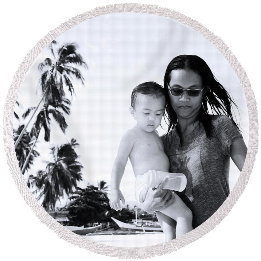 Asia Round Beach Towel featuring the photograph Home Time by Jez C Self