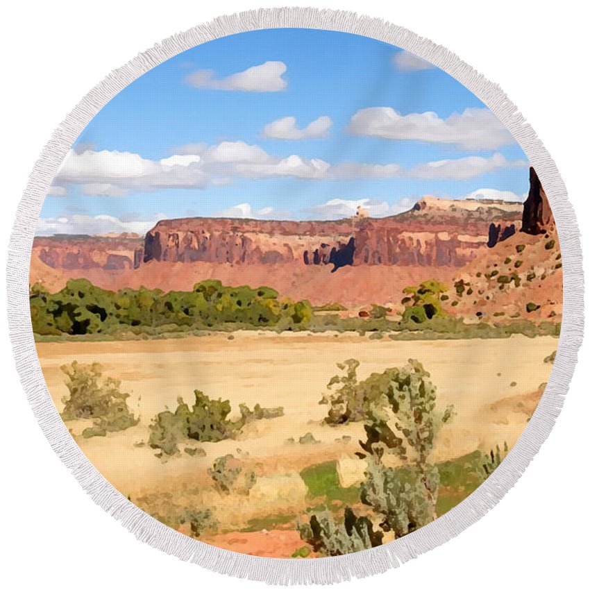 Canyon Lands Round Beach Towel featuring the photograph Land Of Canyons by David Lee Thompson