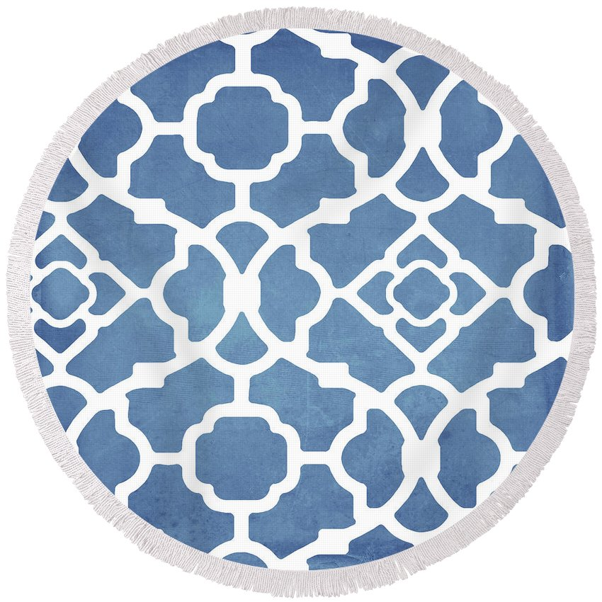 Domes Round Beach Towels