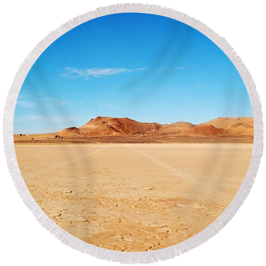 Morocco Round Beach Towel featuring the photograph Morocco by FL collection