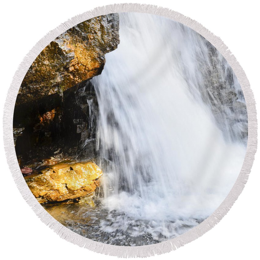 Water Round Beach Towel featuring the photograph Morrell Falls 3 by Janie Johnson