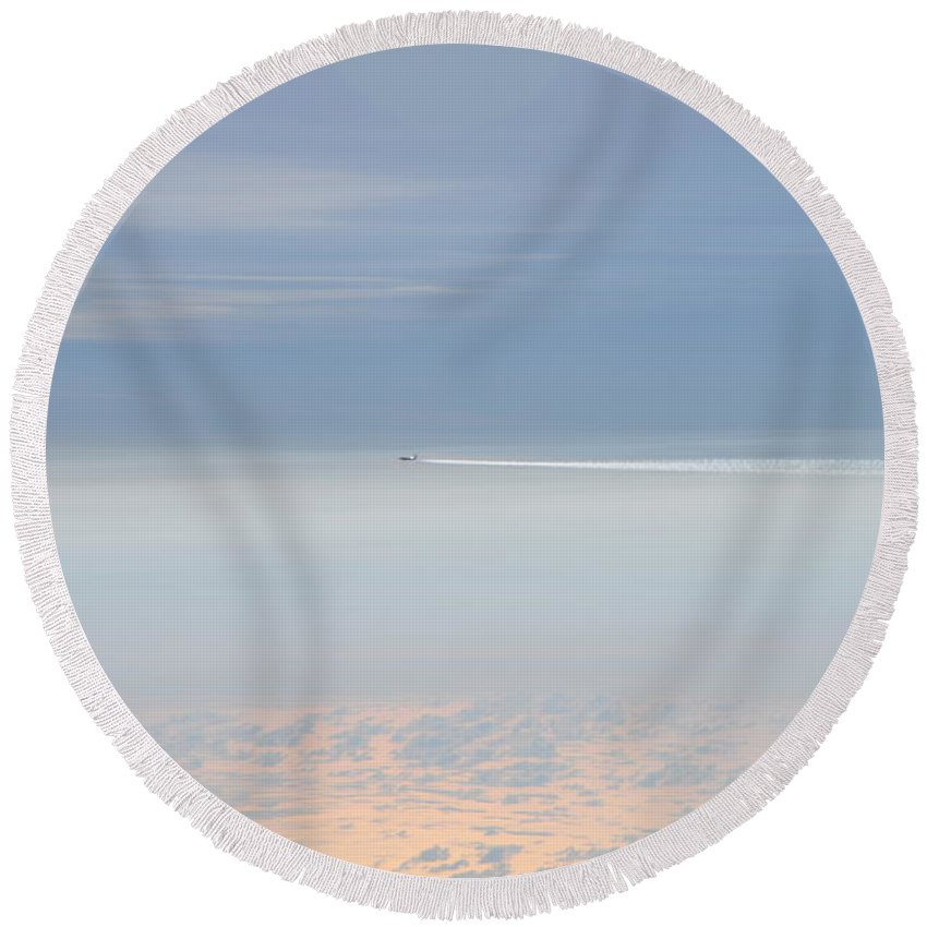 Clouds Round Beach Towel featuring the photograph On Top Of The World by Bill Cannon
