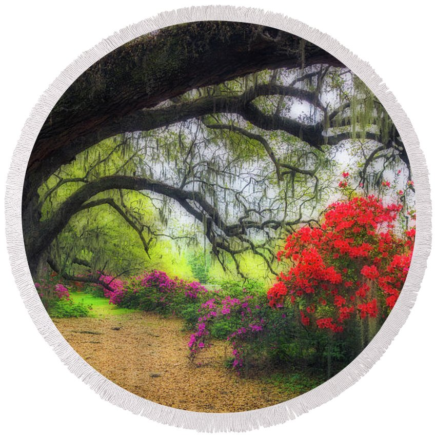South Carolina Round Beach Towel featuring the photograph Once Upon A Time by Xavier Ascanio