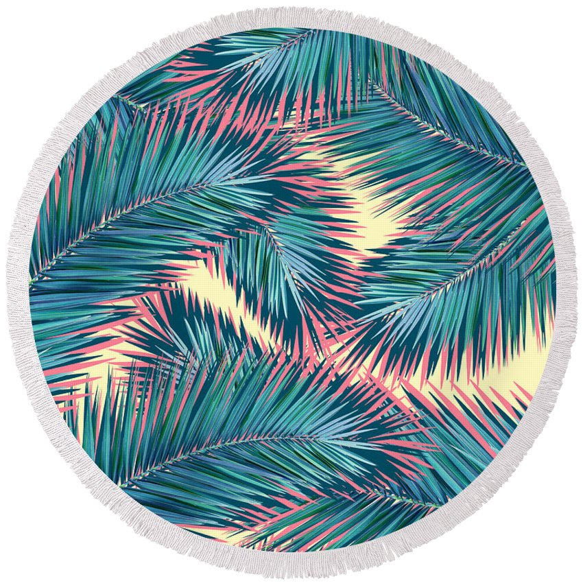 Butterfly Round Beach Towels