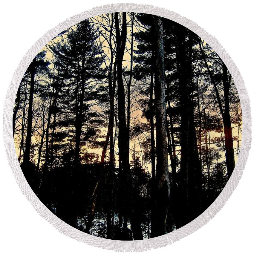 Forest Round Beach Towel featuring the photograph Sanctuary by Elizabeth Tillar