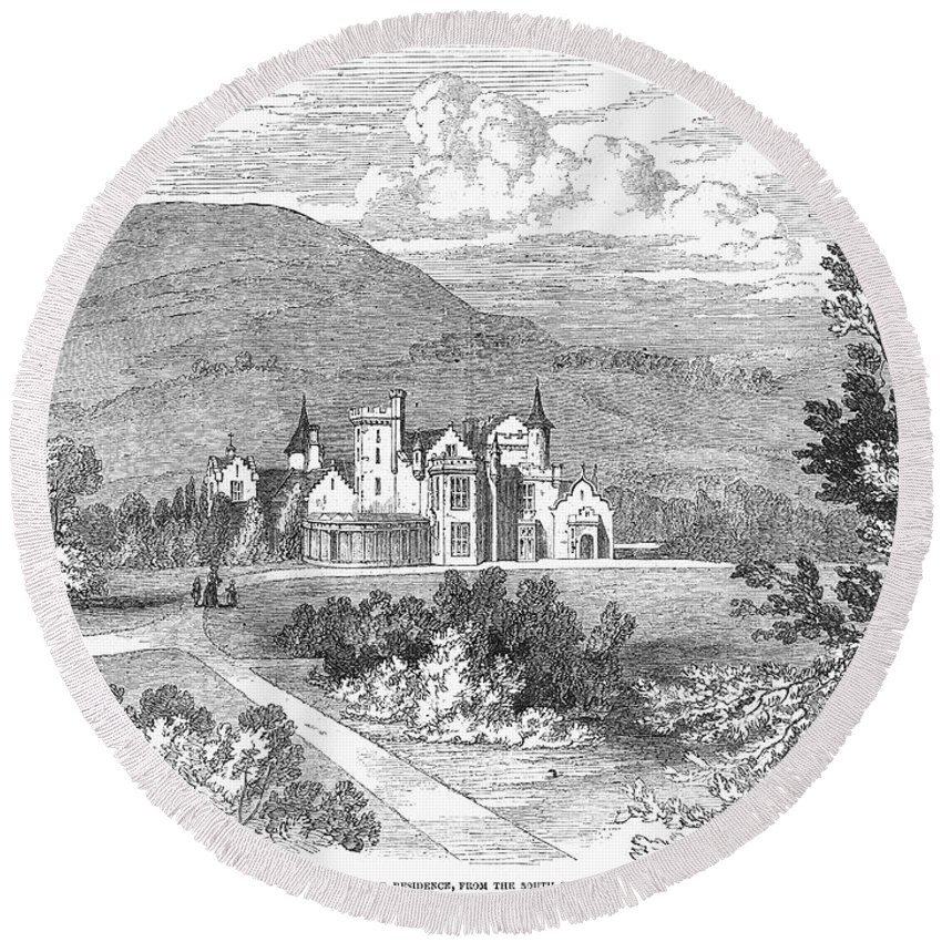 1849 Round Beach Towel featuring the photograph Scotland: Balmoral Castle by Granger