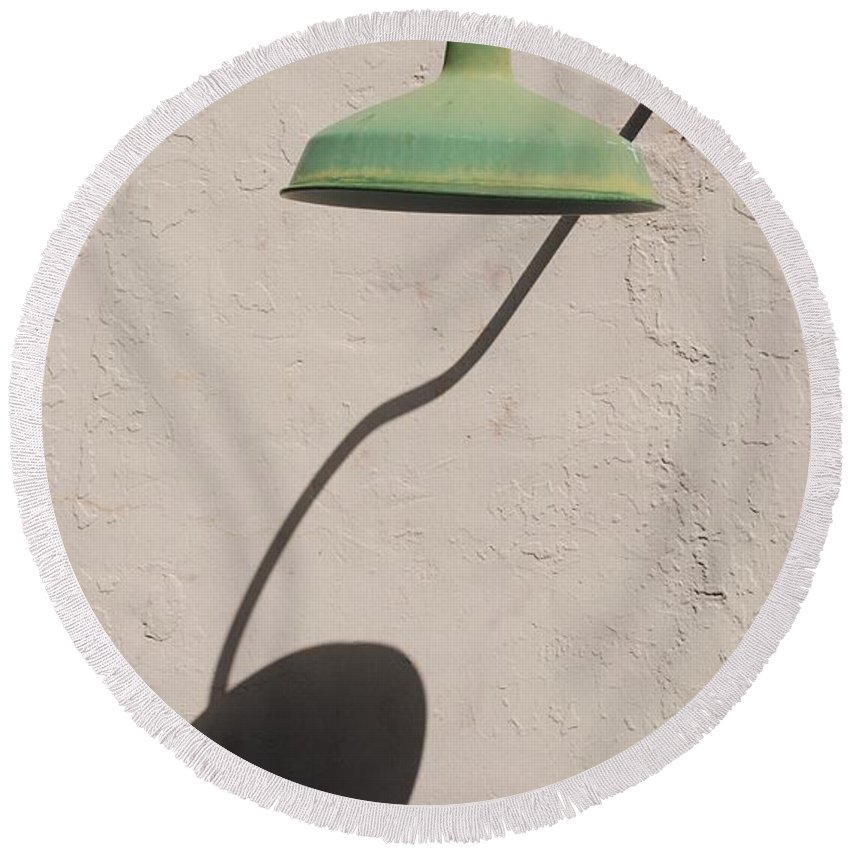 Art Round Beach Towel featuring the photograph Shadow Lamp by Rob Hans