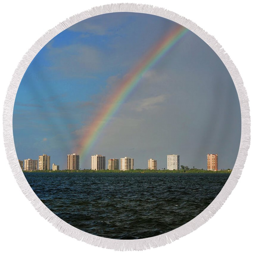 Rainbow Round Beach Towel featuring the photograph 1- Singer Island by Rainbows