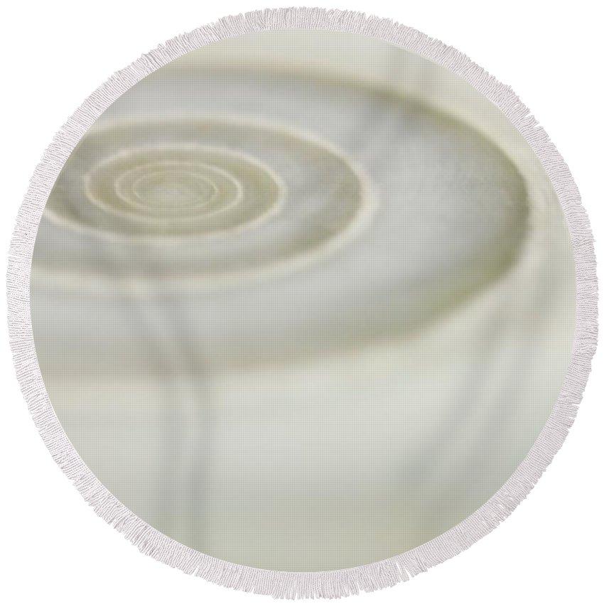 Spiral Round Beach Towel featuring the photograph Spiral Sea Shell by MingTa Li