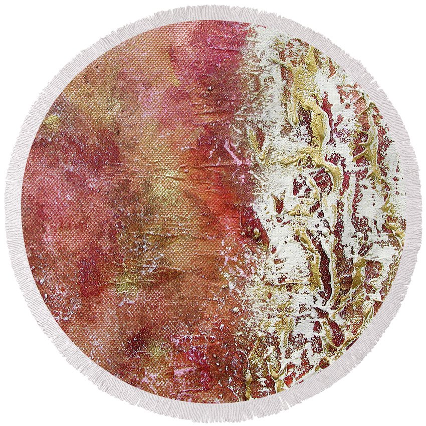 Acrylic Round Beach Towel featuring the painting Summer Colors by INA FineArt