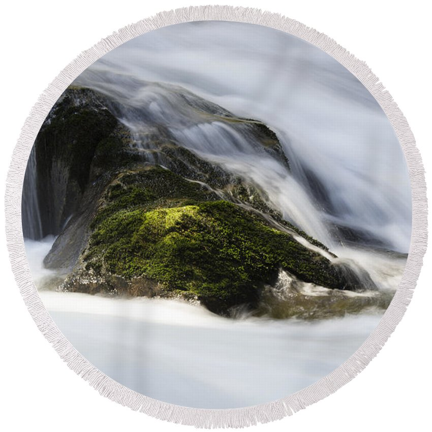 Sweet Creek Round Beach Towel featuring the photograph Sweet Creek Oregon 13 by Bob Christopher