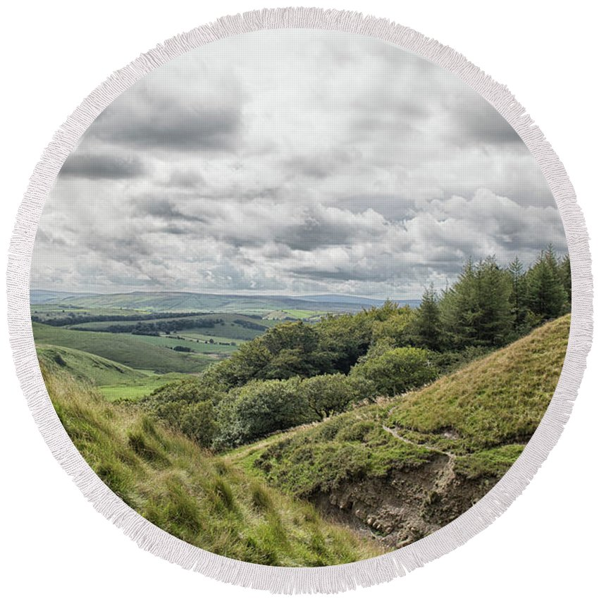 District Round Beach Towel featuring the photograph The Peak District by Martin Newman