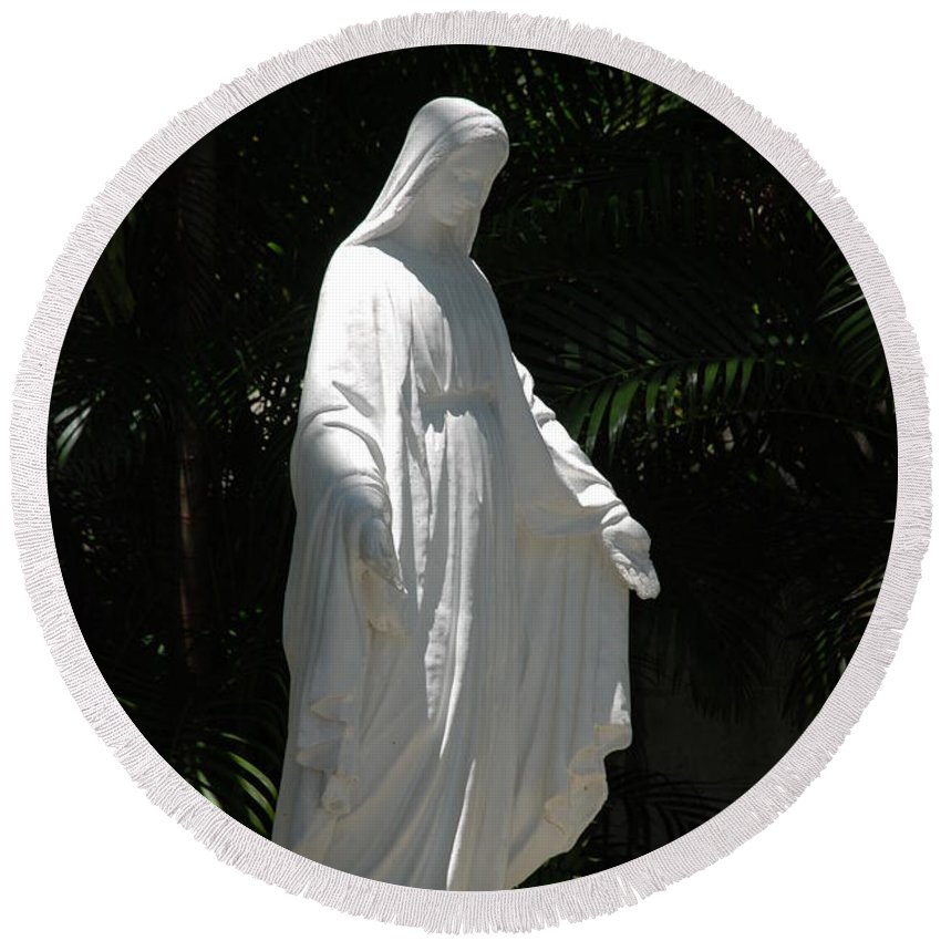 Florida Round Beach Towel featuring the photograph Virgin Mary by Rob Hans