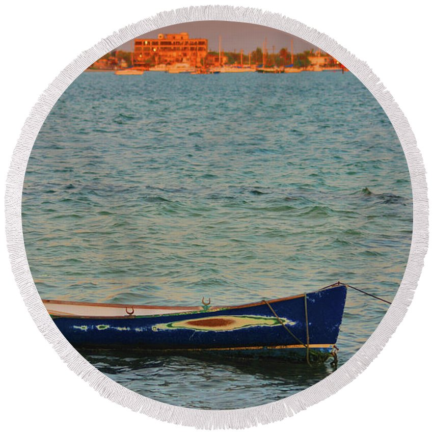 Round Beach Towel featuring the photograph 1- Waiting by Joseph Keane