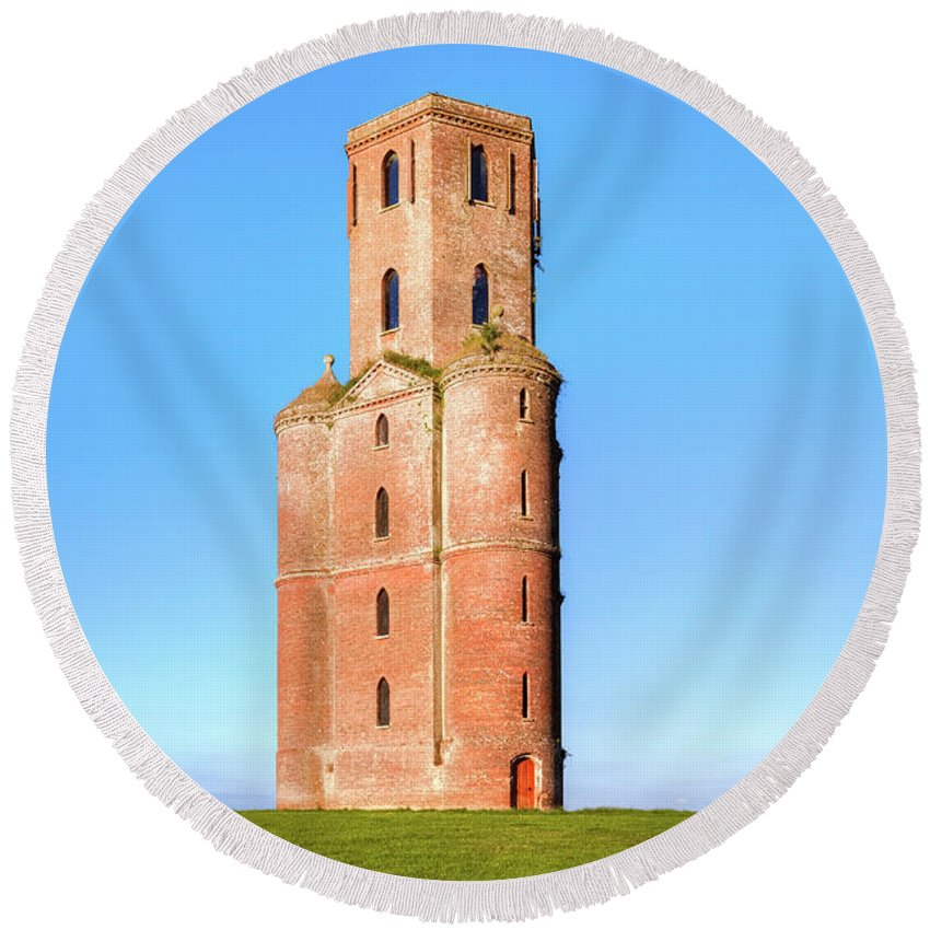 Horton Tower Round Beach Towel featuring the photograph Horton Tower - England by Joana Kruse