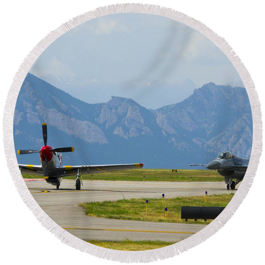 Round Beach Towel featuring the photograph 107 by Brian Jordan