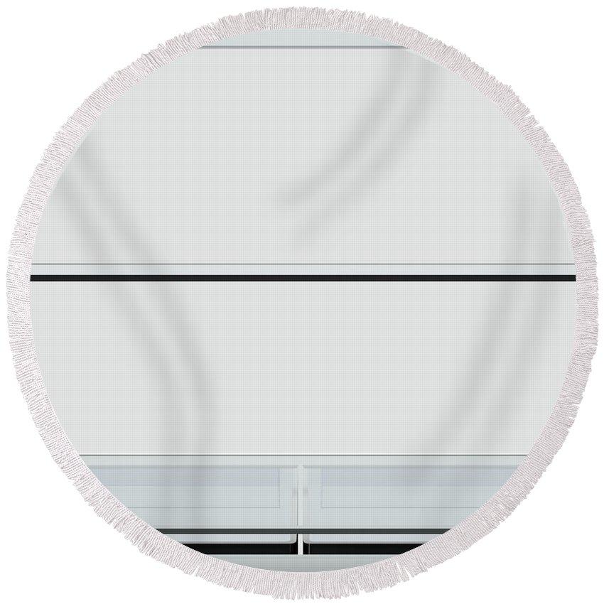 Refrigerator Round Beach Towel featuring the digital art Fridge Interior by Allan Swart
