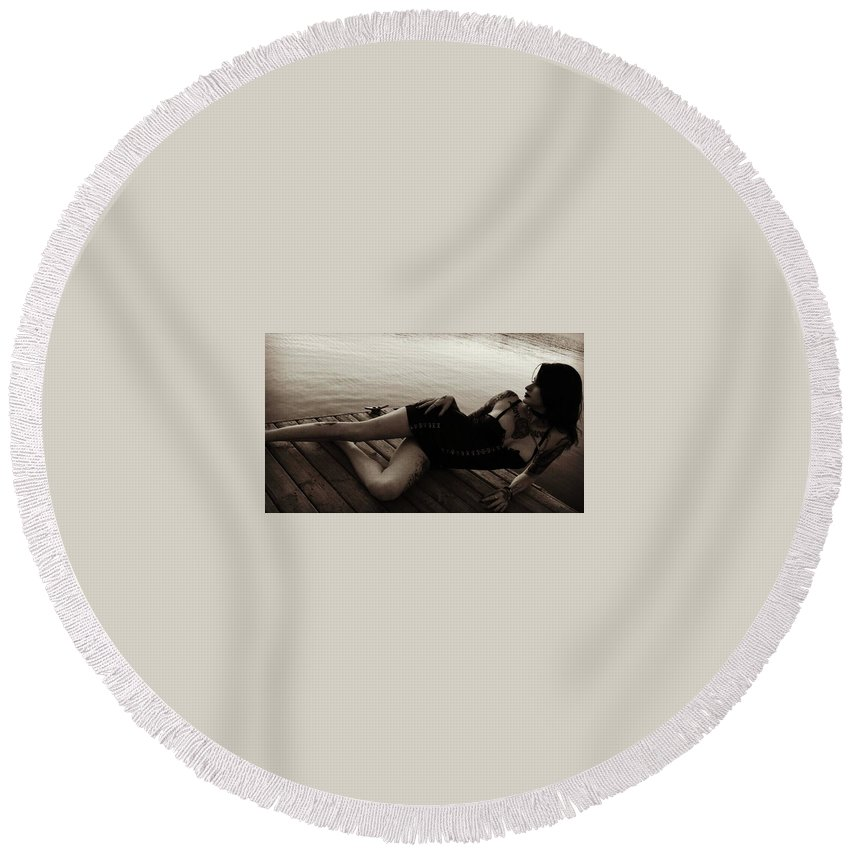 Feral 69 Round Beach Towel featuring the photograph 114 by Feral Sixty Nine