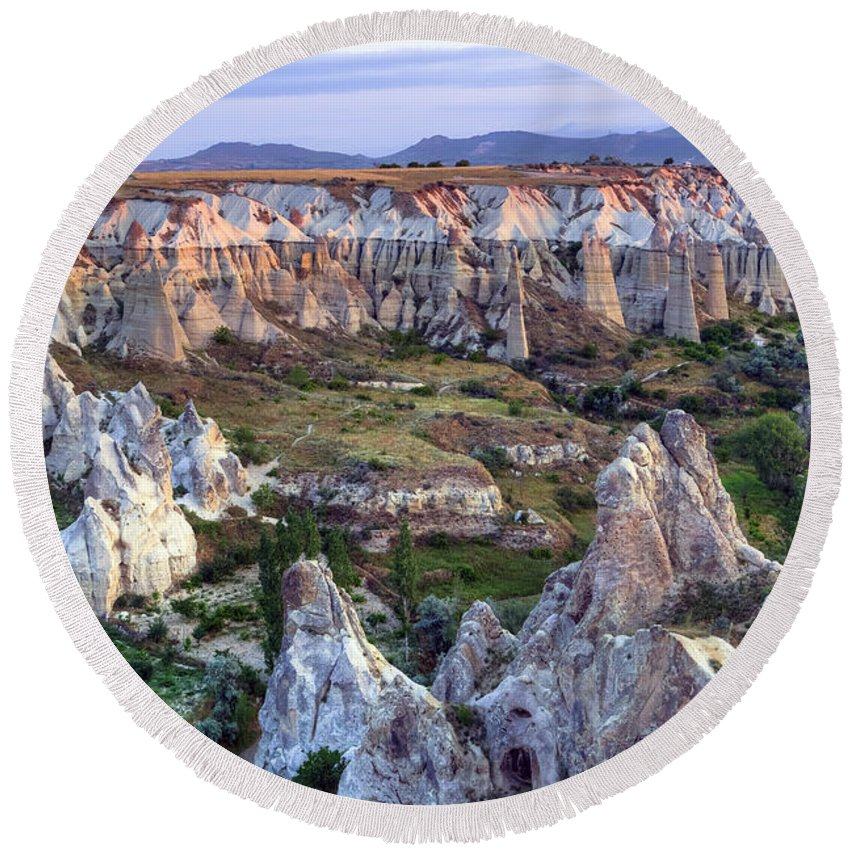 Love Valley Round Beach Towel featuring the photograph Cappadocia - Turkey by Joana Kruse