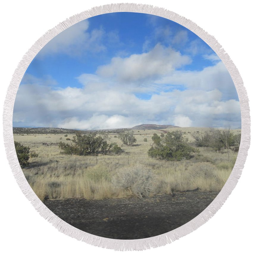 Arizona Round Beach Towel featuring the photograph Arizona Landscape by Frederick Holiday