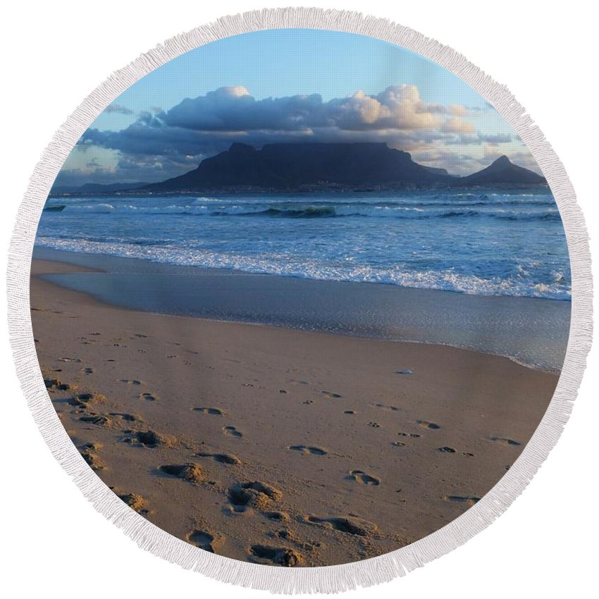 Beach Round Beach Towel featuring the photograph Beach by FL collection