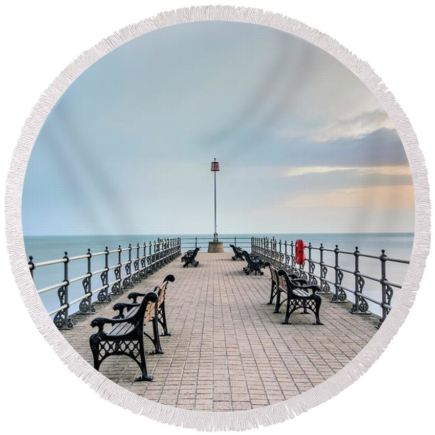 Swanage Round Beach Towel featuring the photograph Swanage - England by Joana Kruse