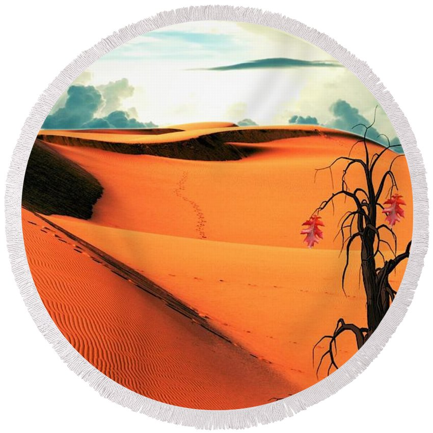 Desert Round Beach Towel featuring the photograph Desert by FL collection