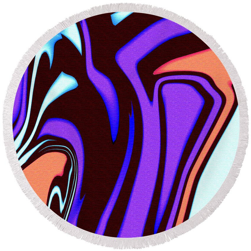 Abstract Round Beach Towel featuring the digital art 1631 Abstract Thought by Chowdary V Arikatla
