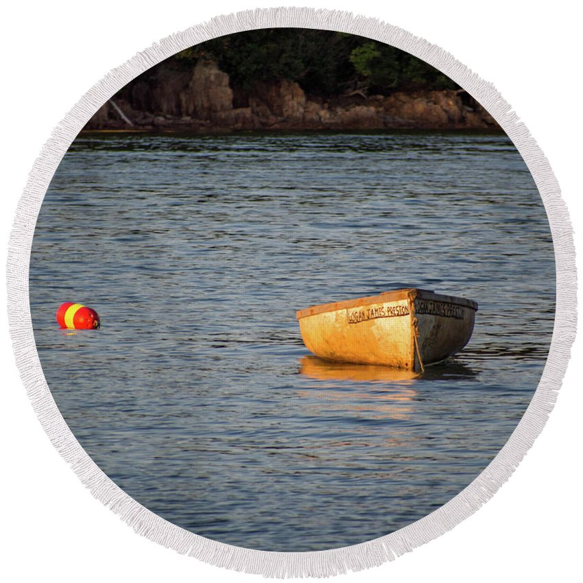 Maine Round Beach Towel featuring the photograph Down East Maine by Trace Kittrell