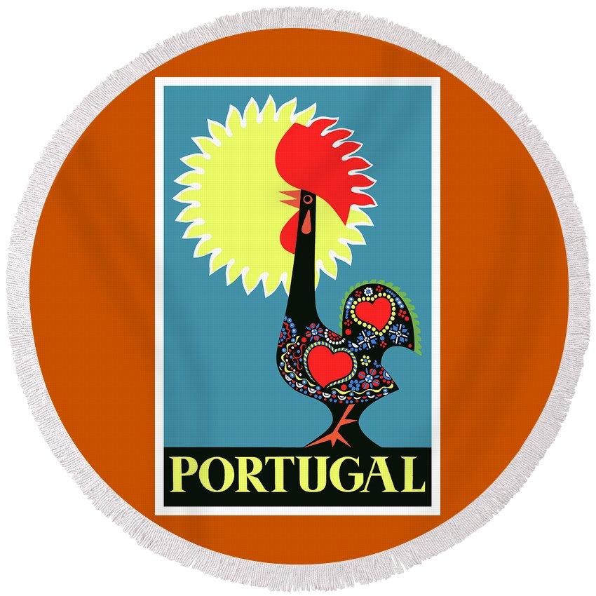 Portugal Round Beach Towels