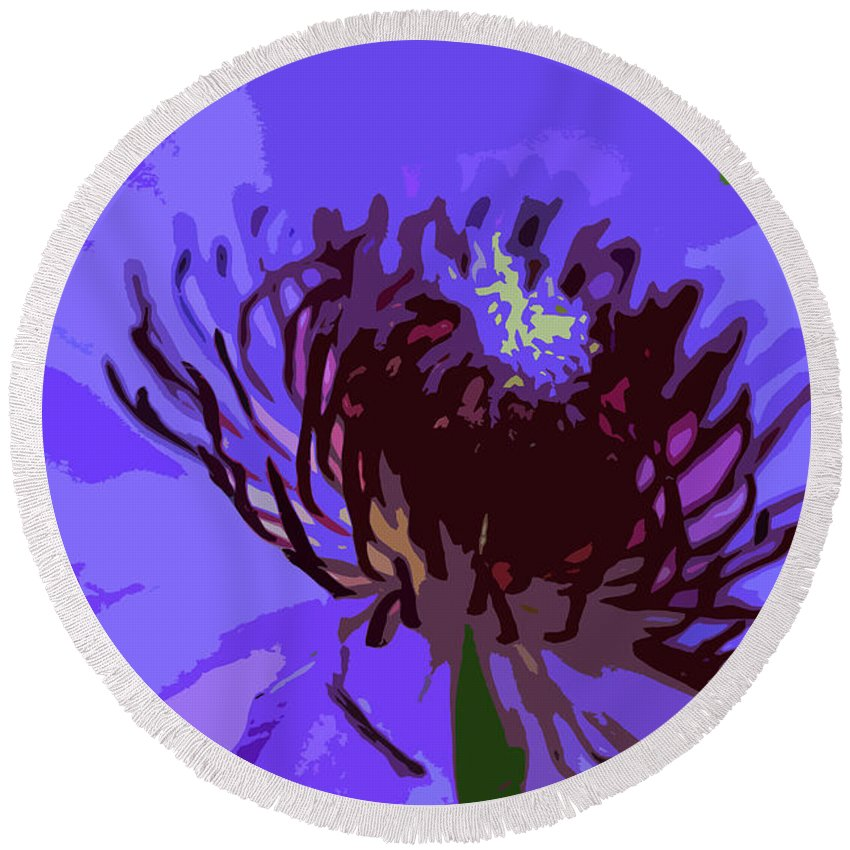 Purple Round Beach Towel featuring the photograph A Path To Redemption by Michiale Schneider