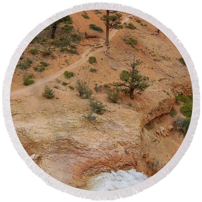 Bryce Canyon Round Beach Towel featuring the photograph A River Runs Through It  by Bob Cuthbert