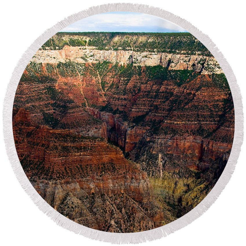 Grand Canyon Round Beach Towel featuring the photograph Grand Canyon by James BO Insogna