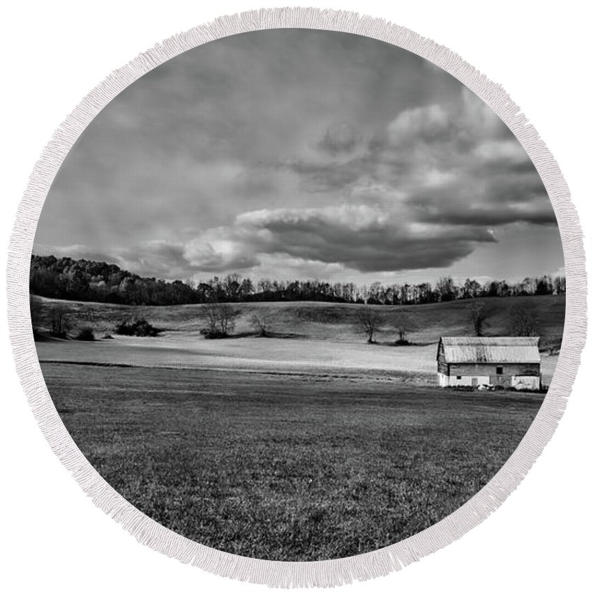 Upshur County Round Beach Towel featuring the photograph Heaven - West Virginia by Mountain Dreams