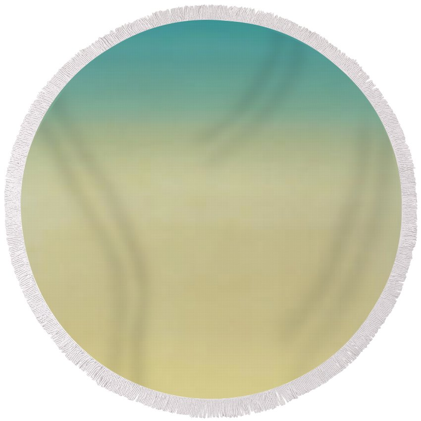 Photography Round Beach Towel featuring the photograph High Angle View Of A Conch Shell by Panoramic Images