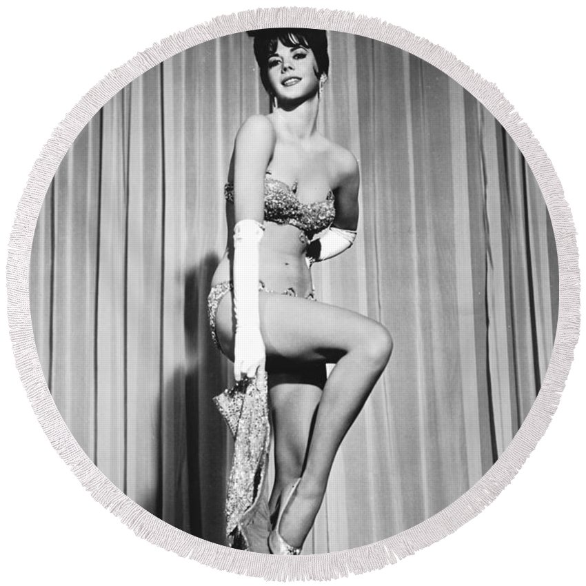 Natalie Wood Round Beach Towel featuring the photograph Natalie Wood by American School