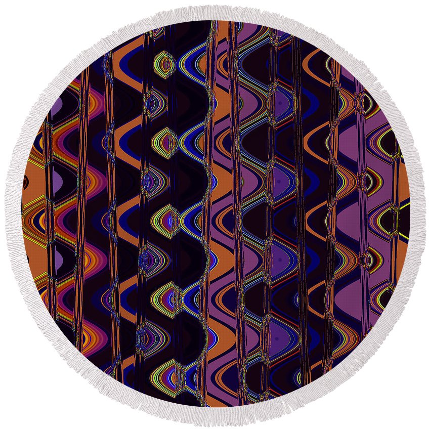 Round Beach Towel featuring the digital art Sally's Shower Curtain by Steven Kelly Smith