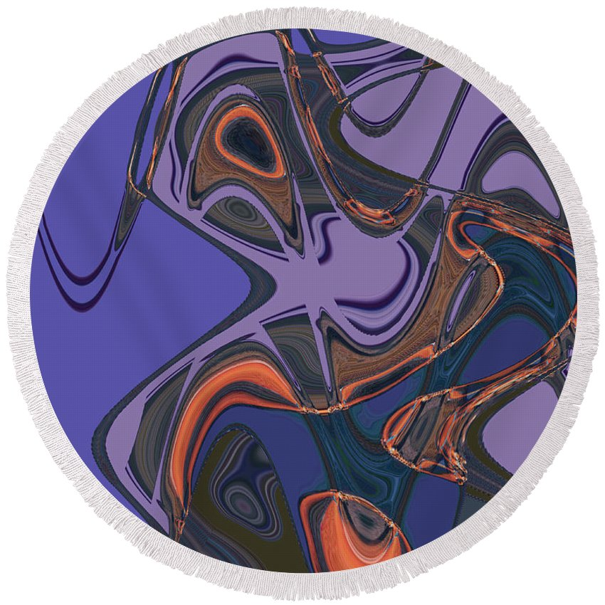 Round Beach Towel featuring the digital art Shirley Maclaine's Grasshopper Phase by Steven Kelly Smith