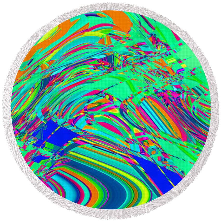 Round Beach Towel featuring the digital art Sky Dive by Steven Kelly Smith