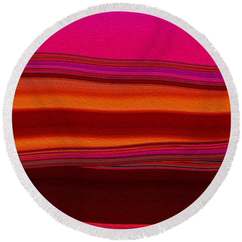 Round Beach Towel featuring the digital art Sunset 2 by Steven Kelly Smith