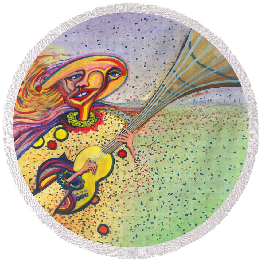 Round Beach Towel featuring the digital art Unquestionable by Steven Kelly Smith