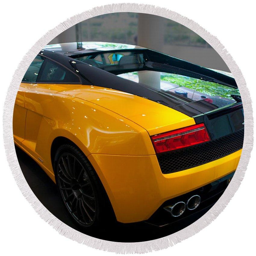 2011 Lamborghini Gallardo Lp560 4 Bicolore Rear View Round Beach