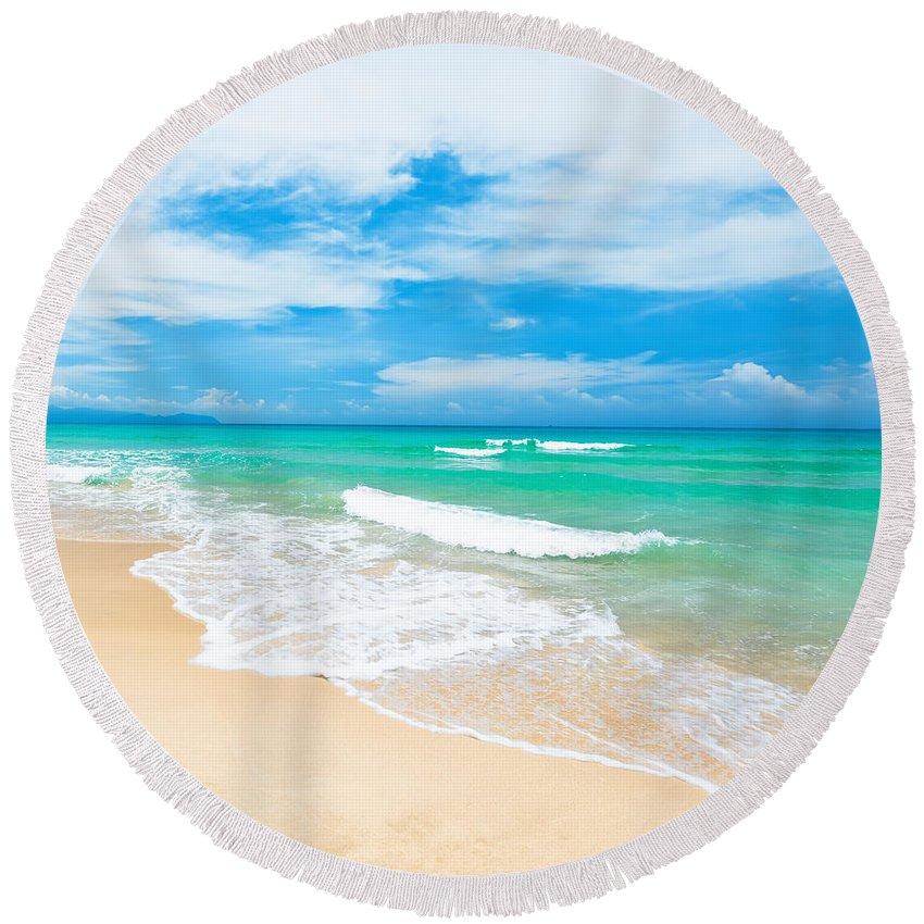 Beach Round Beach Towel featuring the photograph Beach by MotHaiBaPhoto Prints