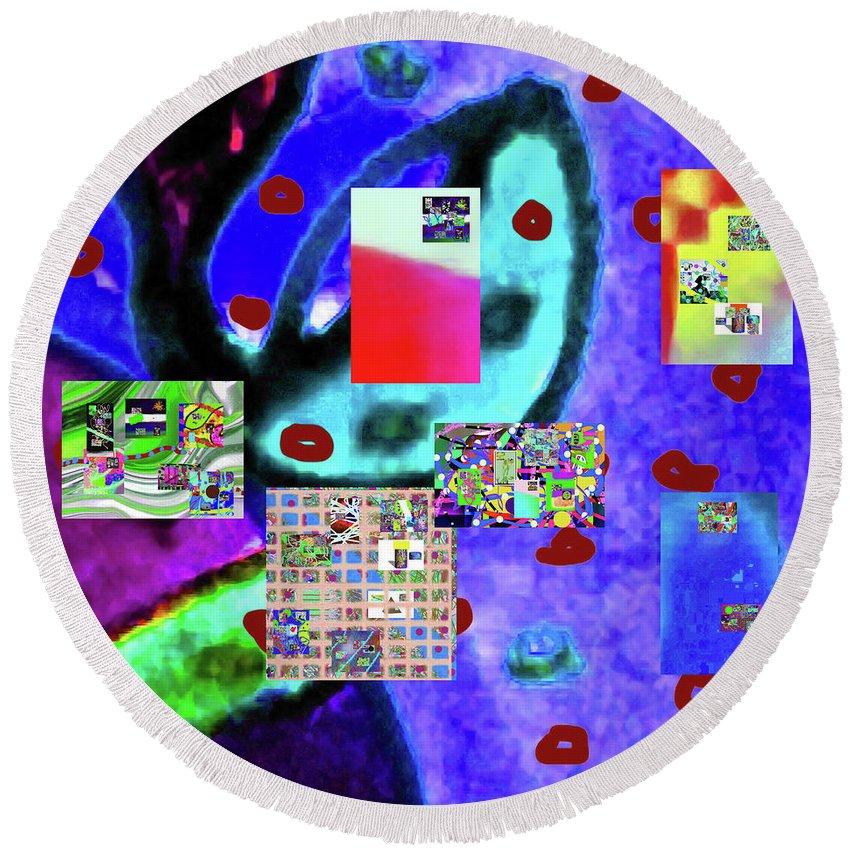 Walter Paul Bebirian Round Beach Towel featuring the digital art 3-3-2016babcde by Walter Paul Bebirian