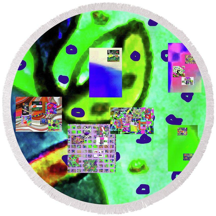 Walter Paul Bebirian Round Beach Towel featuring the digital art 3-3-2016babcdefghijklmno by Walter Paul Bebirian